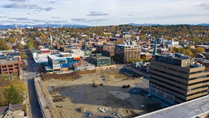 The site of Burlington's former downtown mall