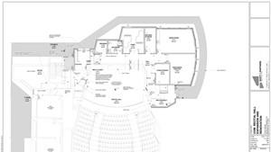 UVM Recital Hall, proposed second-floor plan