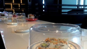 Taiwanese Food on a Conveyor Belt at the Mall