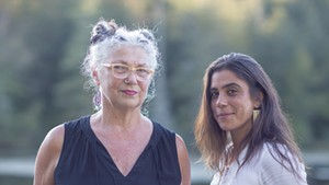 Peg Tassey (left) and Miriam Bernardo