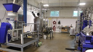 The equipment inside the Middlebury facility