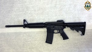The Smith & Wesson M&P-15 rifle Louras used in a shootout with police
