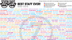 Seven Days Staffers 1995-2015