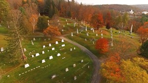 Green Mount Cemetery from the air