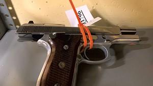 A handgun in state storage