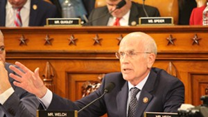 Rep. Peter Welch speaking during the House Intelligence Committee's impeachment inquiry on Wednesday