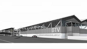 Rendering of expanded terminal at Burlington International Airport