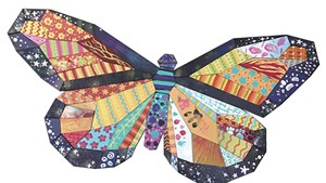 Mary Lacy's butterfly Paint Puzzle