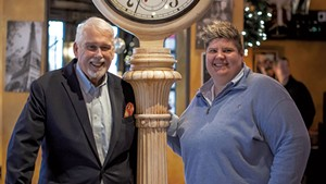 Bob Conlon and Donnell Collins of Leunig's Bistro & Café