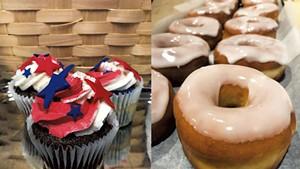Fourth of July cupcakes and doughnuts at La Brioche