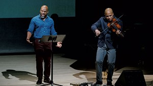 The Just and the Blind with Marc Bamuthi Joseph (left) and Daniel Bernard Roumain