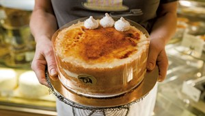 Crème brûlée cake at Mirabelles
