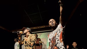 Said Bulle (left) and George Mnyonge at the A2VT album release party