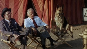 Phil Silvers, Art Carney and the titular star of Won Ton Ton: The Dog Who Saved Hollywood