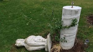 Vandalized sculpture