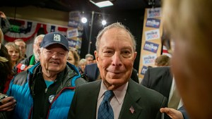 Michael Bloomberg campaigning Monday at the ECHO Leahy Center for Lake Champlain