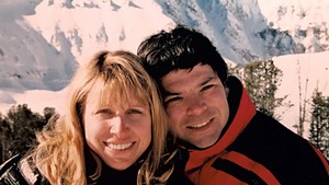 Randy Stern and his late wife, Annette Monachelli, on vacation in the 1990s
