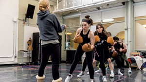 The cast in a boxing training session