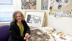 Autumn Tomlinson in her studio