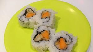 Tempura sweet potato roll, $3