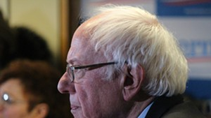 Sen. Bernie Sanders campaigning last month in New Hampshire