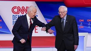 Former vice president Joe Biden and Sen. Bernie Sanders preparing to debate Sunday night in Washington, D.C.