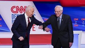 Former vice president Joe Biden and Sen. Bernie Sanders preparing to debate Sunday night in Washington, D.C.