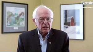 Sen. Bernie Sanders making his announcement online
