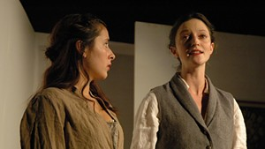 Esse Luna (left) as Claire and Anna May Sisk as Mary