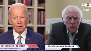 Joe Biden, left, and Bernie Sanders