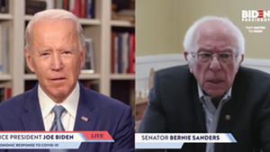 Joe Biden, left, and Bernie Sanders