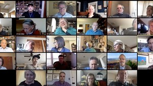 Members of the Vermont Senate meet online Tuesday