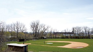 Baseball field at Calahan Park in Burlington
