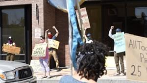 Educators rallying last week in Montpelier