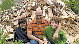 From left: Logan, Eric and Devin Axelrod