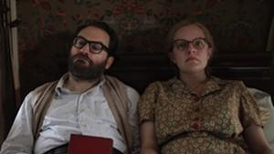 Michael Stuhlbarg and Elisabeth Moss as Stanley Hyman and Shirley Jackson