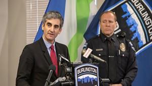 Mayor Miro Weinberger and Deputy Chief Jon Murad last December
