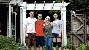 From left: Ben, Caleb, Sally and Ella Roberts