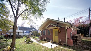 Ruby Perry and Andy Simon's tiny house sits in a South End backyard.