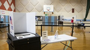 A South Burlington polling place in May