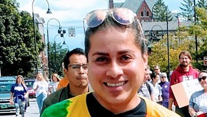 Durvi Martinez at a Burlington Pride Parade in 2019
