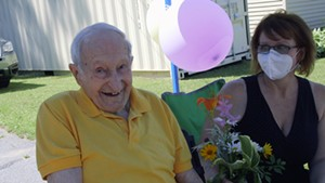 Bill James celebrates his 109th birthday with a car parade in Bristol