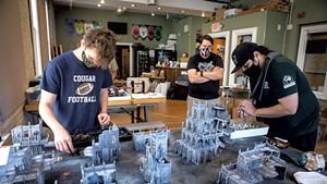 A game of Warhammer 40,000 at Quarterstaff Games