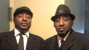 Gilbert Johnson (left) and his late brother, Kenneth Johnson