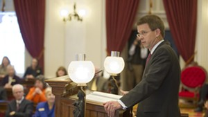 House Speaker Shap Smith (D-Morristown) begins his final session Tuesday at the Statehouse.