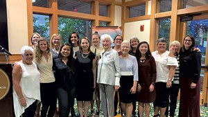 Emerge Vermont participants and leaders with former governor Madeleine Kunin (center)