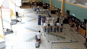 Lines at the airport were short last week.