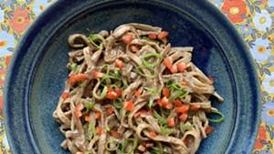 Homemade version of Five Spice Café sesame peanut noodles