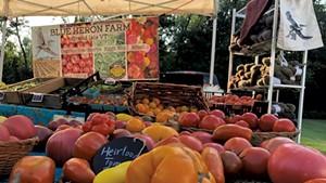 Heirloom tomatoes from Blue Heron Farm