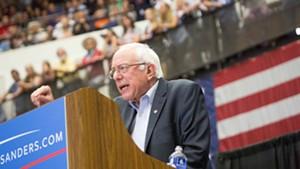 Sen. Bernie Sanders campaigns in Wisconsin last year.